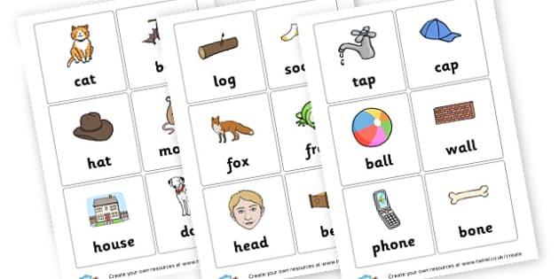 rhyming cards - Word Rhyme Primary Resources, words, rhymes, keywords, vocabulary