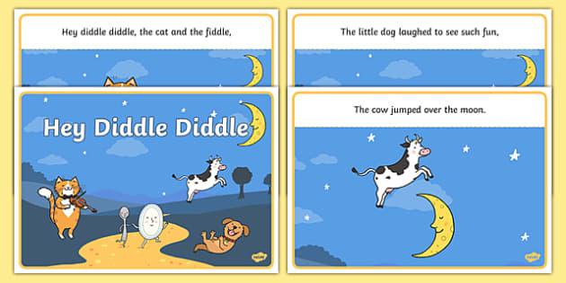 Hey Diddle Diddle Sequencing - Hey Diddle Diddle, nursery rhyme, rhyme, rhyming, nursery rhyme story, nursery rhymes, Hey Diddle Diddle resources, fiddle, cat, sequencing