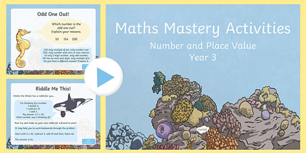 Maths Mastery Activities Year 3 PowerPoint