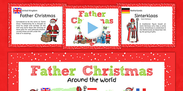 Father Christmas Around the World PowerPoint Teaching Pack - pack