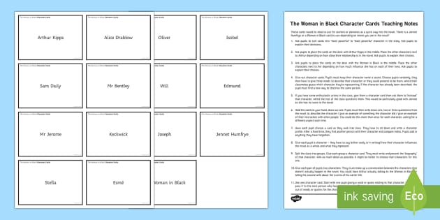 The Woman in Black Character Cards Pack - The Woman in Black