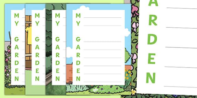 My Garden Acrostic Poem