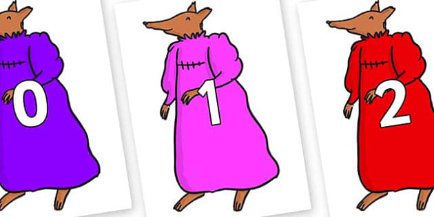 Numbers 0-31 on Mrs Fox to Support Teaching on Fantastic Mr Fox - 0-31, foundation stage numeracy, Number recognition, Number flashcards, counting, number frieze, Display numbers, number posters