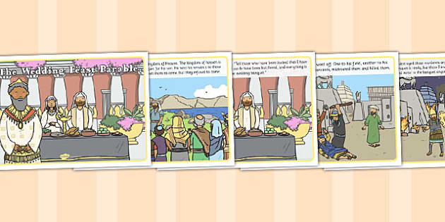 The Wedding Feast Parable - parable, wedding, feast, religion