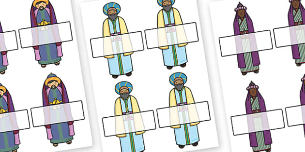 Christmas Editable Self Registration Kings - christmas, xmas, self registration, self-registration, self registration kings, kings, christmas kings, the three gings, nativity, editable, editable labels, editable self registration labels, labels, regi