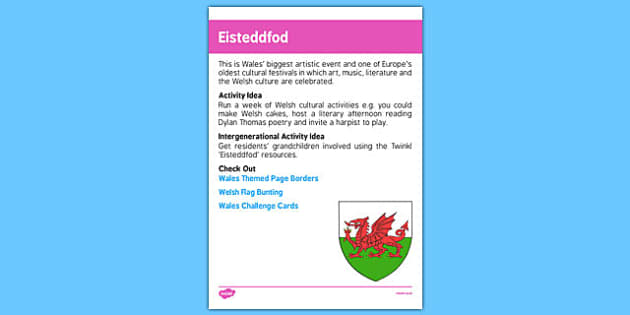 Elderly Care Calendar Planning July 2016 Eisteddfod - Elderly Care, Calendar Planning, Care Homes, Activity Co-ordinators, Support, July 2016