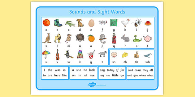 Sounds and Sight Words Desk Mat - australia, sounds, sight, words, desk mat, desk, mat, visual aid
