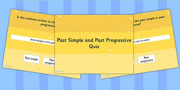 Identifying Whether Sentence is the Past Simple Past Progressive