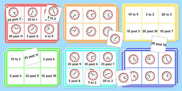 Mixed Time Bingo - mixed, time, bingo, game, activity, class
