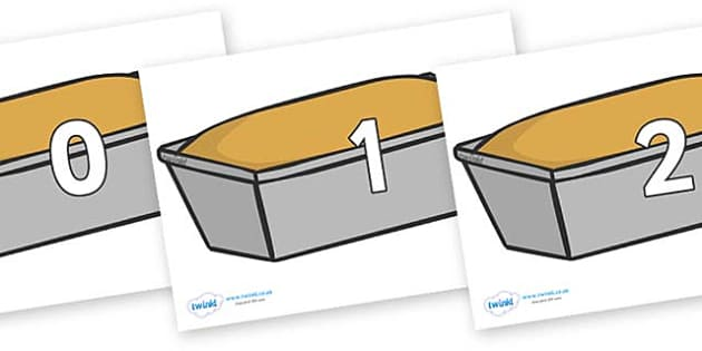 Numbers 0-31 on Bread Loaves - 0-31, foundation stage numeracy, Number recognition, Number flashcards, counting, number frieze, Display numbers, number posters
