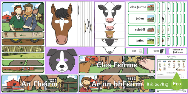 Aistear Pack The Farm Gaeilge Display Pack