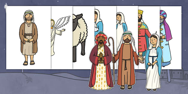 Christmas A4 Nativity Images Editable  - christmas, nativity