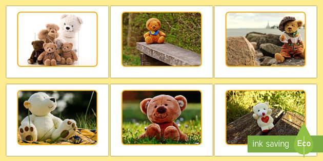 Teddy Bear Display Photos - EYFS, Early Years, KS1, Toys, bears, teddies, soft toys, toy photos