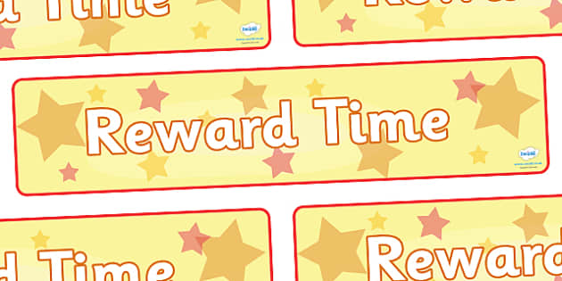 Reward Time Display Banner - reward, award, reward time, display, banner, sign, poster, rewarding