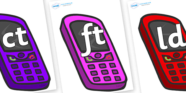 Final Letter Blends on Mobile Phones - Final Letters, final letter, letter blend, letter blends, consonant, consonants, digraph, trigraph, literacy, alphabet, letters, foundation stage literacy