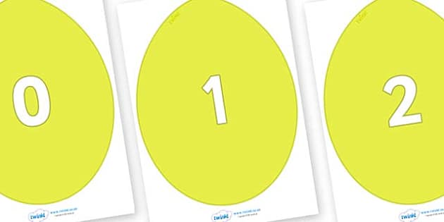 Numbers 0-100 on Golden Eggs - 0-100, foundation stage numeracy, Number recognition, Number flashcards, counting, number frieze, Display numbers, number posters