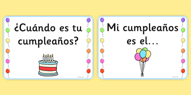 Birthday Board Cards Spanish - spanish, birthday, board, cards, display, birthday board