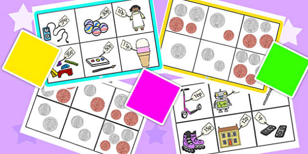 Toy Shop Bingo Up To 50 Pack - toy shop, bingo, 0-50, to fifty, bingo pack, lotto pack, lotto, money, money games, maths games, numeracy, maths, games