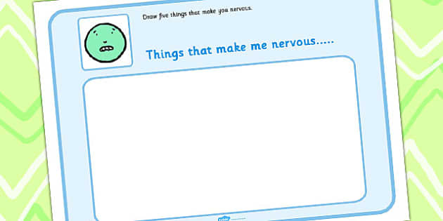 Draw 5 Things That Make You Nervous - feelings, emotions, SEN