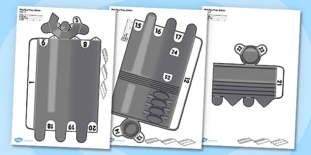Role Play Printable Prop Baton - role-play, printable, prop, baton