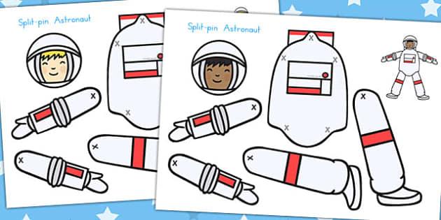 Split Pin Astronaut - Astronauts, Space, Activity, Activities