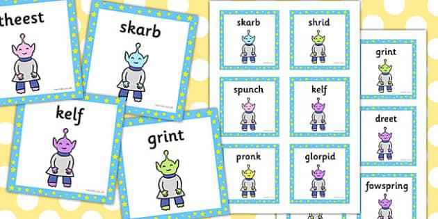 Phase 4 Nonsense Words Flashcards - phase 4, nonsense, words