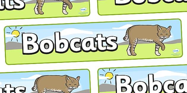 Bobcats Display Banner - Bobcats, class, class banner, class display, classroom banner, classroom areas signs, areas, display banner, display