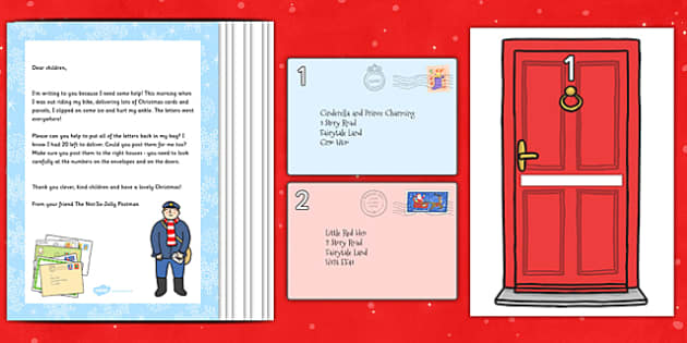 Christmas Post Rhyme Resource Pack to Support Teaching on The Jolly Christmas Postman - EYFS, Early Years, planning, Christmas, CL, Communication and Language, Janet and Allan Ahlberg, The Jolly Christmas Postman