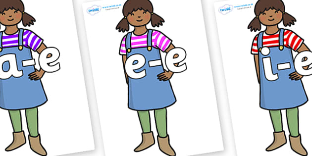 Modifying E Letters on Enormous Turnip Girl - Modifying E, letters, modify, Phase 5, Phase five, alternative spellings for phonemes, DfES letters and Sounds