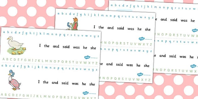 The Tale of Jemima Puddle-Duck Alphabet Strips - jemima puddle-duck