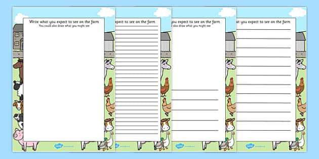 Farm Trip Themed Writing Frames - farm trip, writing frames
