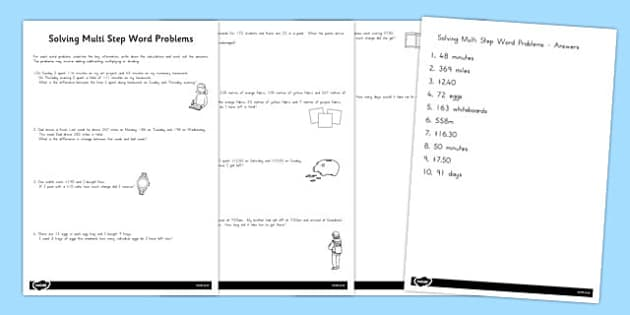 Differentiated Two Step Maths Word Problems - australia, maths