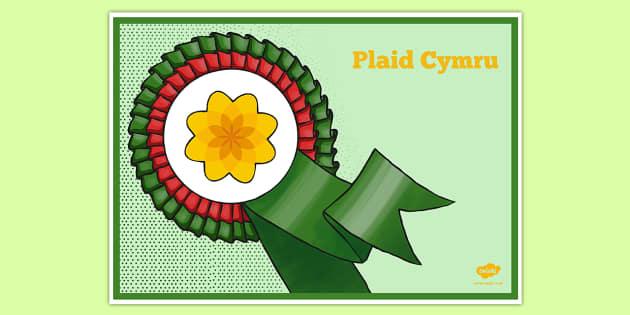 United Kingdom Political Plaid Cymru Party Display Poster - british values, politics, uk
