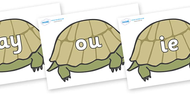 Phase 5 Phonemes on Tortoises - Phonemes, phoneme, Phase 5, Phase five, Foundation, Literacy, Letters and Sounds, DfES, display