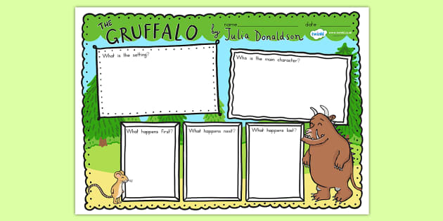 The Gruffalo Book Review Writing Frames - book review, writing
