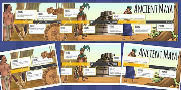 Maya Civilisation Timeline - ancient maya, mayans, time line