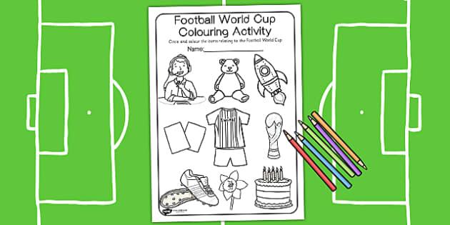 Football Colouring Activity - football, colours, colouring, sport