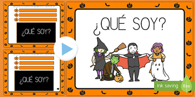 Halloween ¿Qué soy? PowerPoint