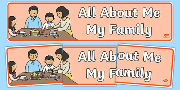 All About Me: My Family Display Banner