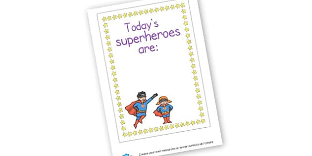superhero - display lettering - Superheroes Primary Resources, superhero, role play, visual aids