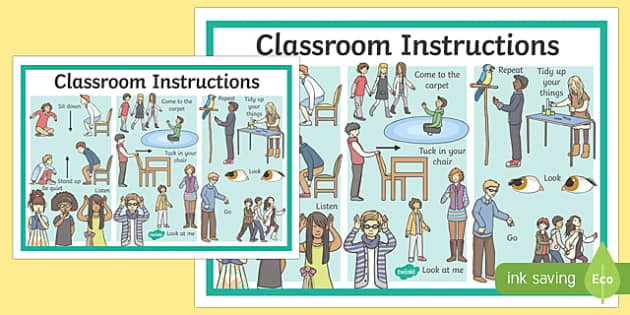 Classroom Instructions Display Poster - classroom, instructions, display poster, display, poster