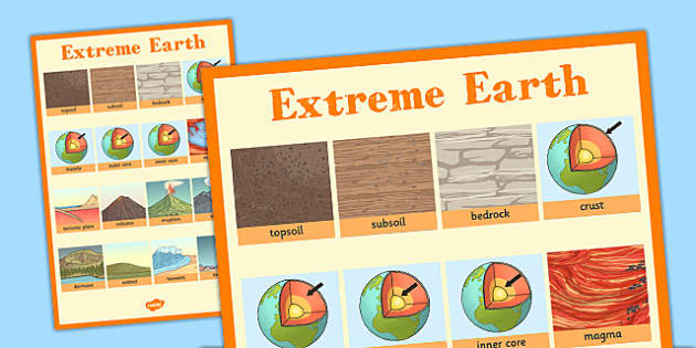 Extreme Earth Word Grid - extreme, earth, word, grid, words