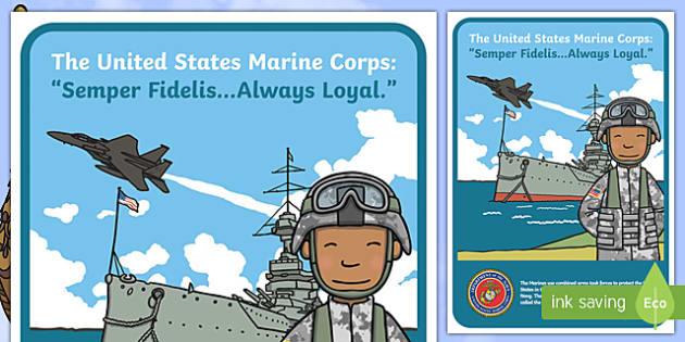 USA Marine Corps Display Poster