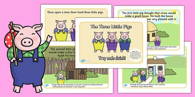 The Three Little Pigs Story Polish Translation - polish, three little pigs