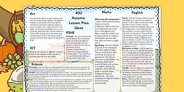 KS2 Autumn Lesson Plan Ideas - KS2 autumn, autumn, lesson plan, KS2 lesson plan, autumn lesson plan, ideas for lessons, lesson plan ideas, autumn lessons