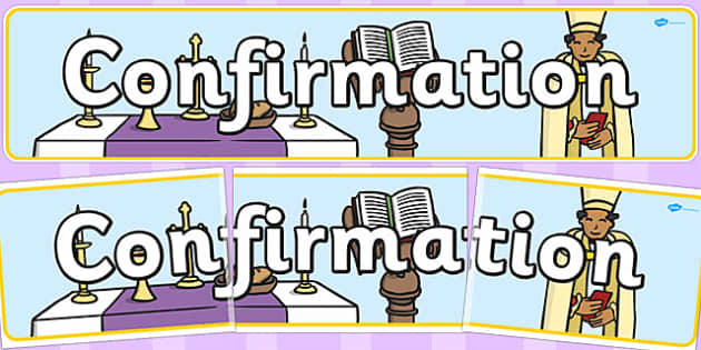 Confirmation Display Banner - banners, displays, religion, display