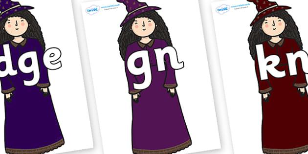 Silent Letters on Witch - Silent Letters, silent letter, letter blend, consonant, consonants, digraph, trigraph, A-Z letters, literacy, alphabet, letters, alternative sounds