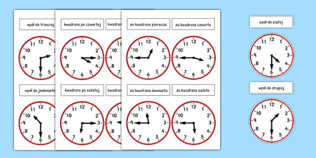 Zegar analogowy Godzina po polsku - czas