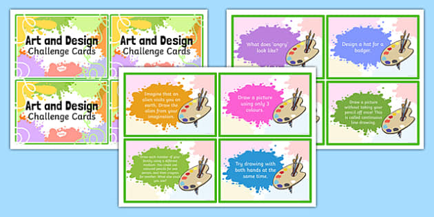 Art and Design Challenge Cards - art, design, challenge, cards