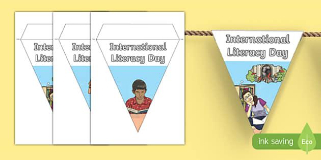 International Literacy Day Display Bunting